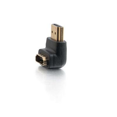 C2G Adaptador 90 Grados HDMI Hembra - HDMI Macho, Abajo, Negro