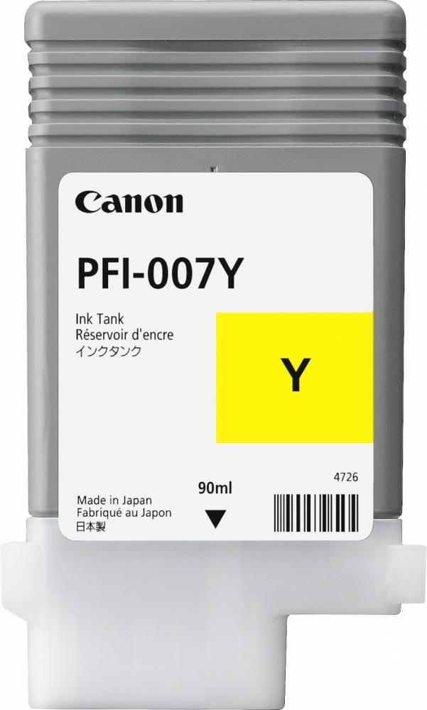 Tanque de Tinta Canon PFI-007Y Amarillo, 90ml
