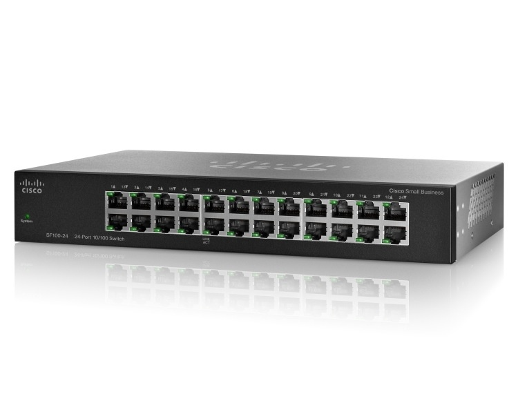 Switch Cisco Fast Ethernet SF110-24, 24 Puertos 10/100Mbps, 4.8 Gbit/s - No Administrable