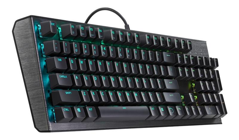 Teclado Gamer Cooler Master CK550 RGB, Switch Gateron Blue, Alámbrico, Negro (Inglés)