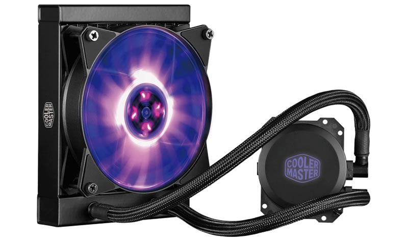 Cooler Master MasterLiquid ML120L RGB Enfriamiento Liquido para CPU, 1x 120mm, 650-2000RPM