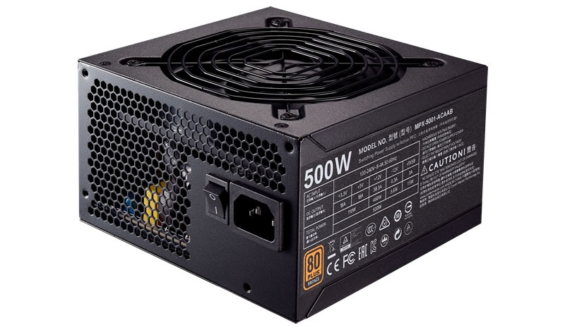 Fuente de Poder Cooler Master MWE 500 80 PLUS Bronze, 20+4 pin ATX, 120mm, 500W