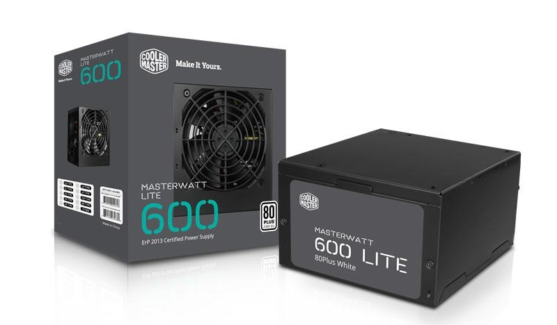 Fuente de Poder Cooler Master MasterWatt Lite 600 80 PLUS, 20+4 pin ATX, 120mm, 600W