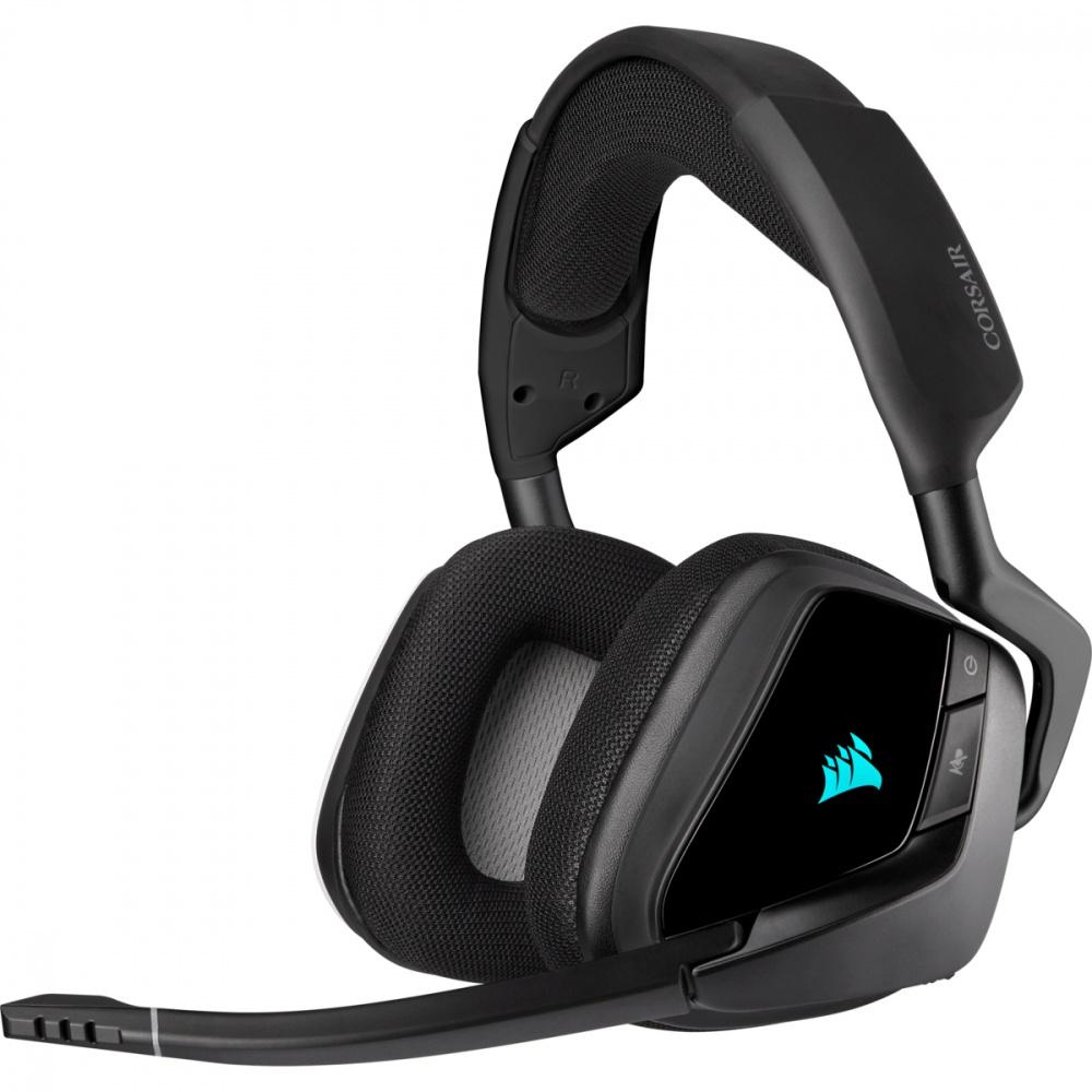 Corsair Audífonos Gamer VOID RGB ELITE Wireless 7.1, Inalámbrico, USB, Negro