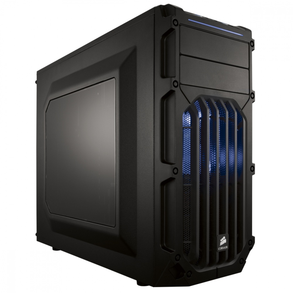 Gabinete Corsair Carbide SPEC-03 LED Azul, Midi-Tower, ATX/micro-ATX/mini-iTX, USB 3.0, sin Fuente, Negro