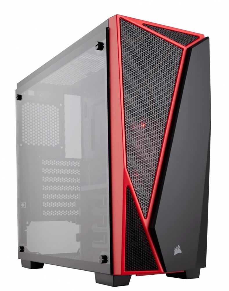 Gabinete Corsair Carbide SPEC-04 con Ventana, Midi-Tower, ATX/Micro-ATX/Mini-ITX, USB 3.0, sin Fuente, Negro/Rojo