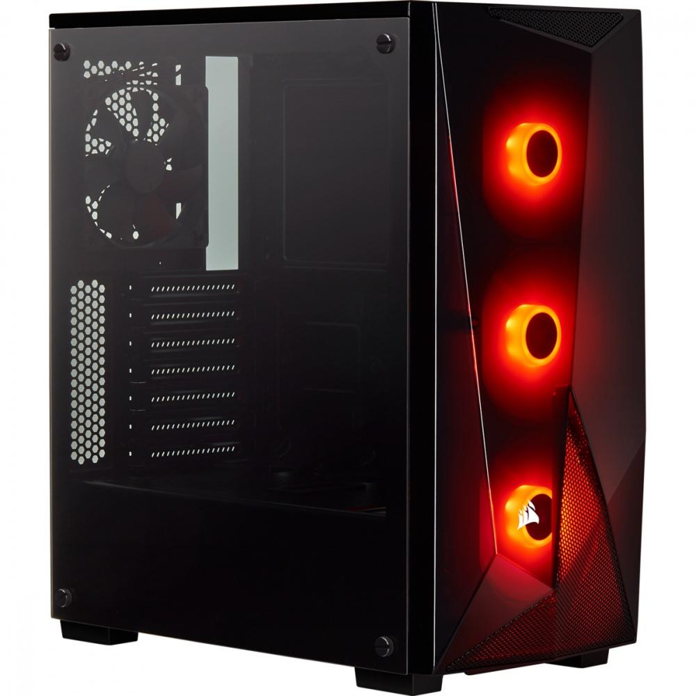 Gabinete Corsair SPEC-DELTA RGB con Ventana, Midi-Tower, ATX/Micro-ATX/Mini-ITX, USB 3.0 , sin Fuente, Negro
