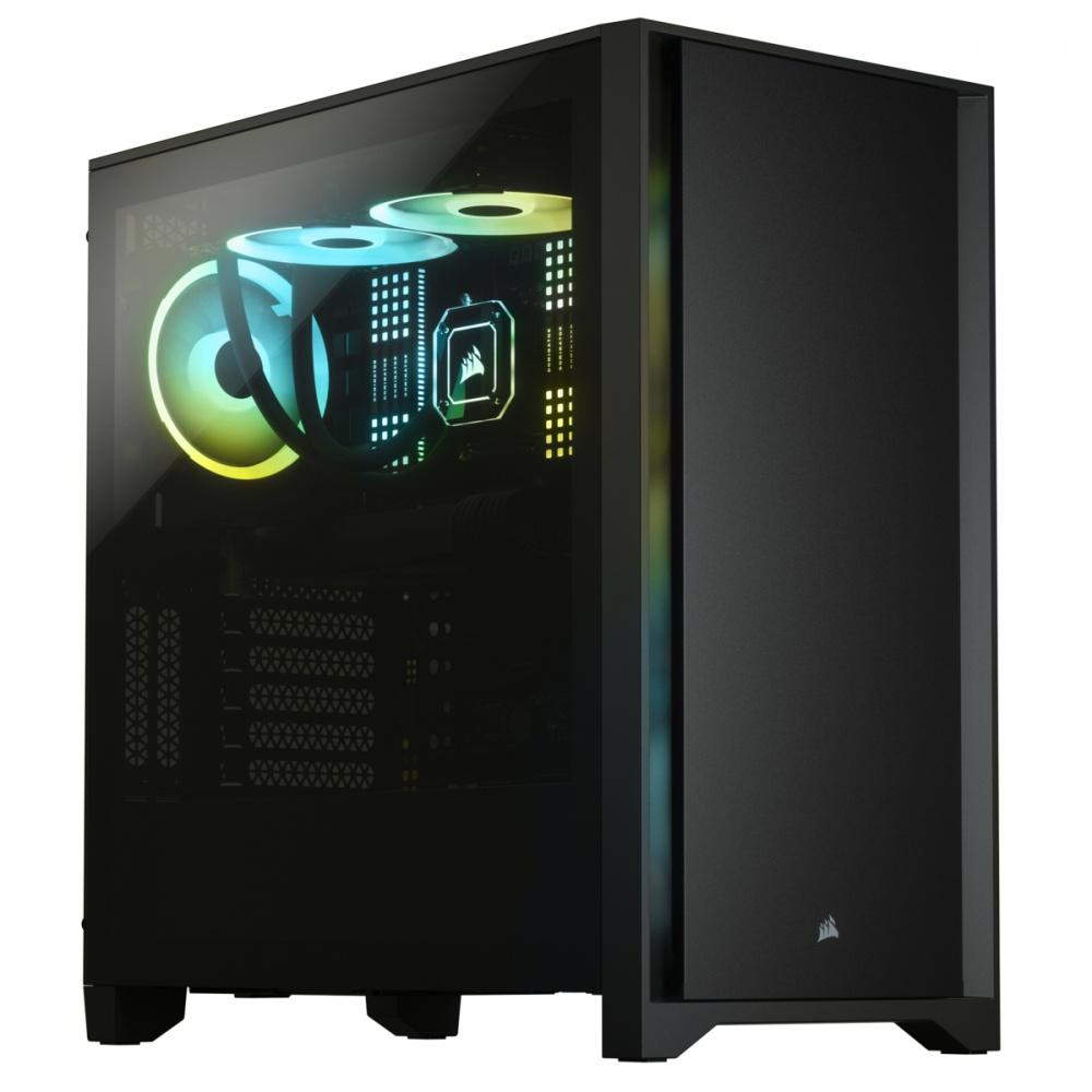 Gabinete Corsair 4000D con Ventana, Midi-Tower, ATX/EATX/micro ATX/Mini-ITX, USB 3.0, sin Fuente, Negro
