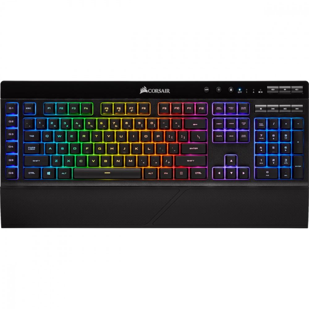 Teclado Gamer Corsair K57 RGB, Inalámbrico, Negro (Español)