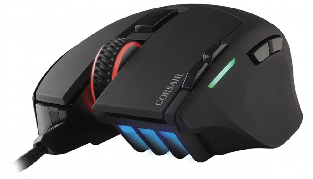 Mouse Gamer Corsair Óptico Sabre RGB, Alámbrico, USB, 10000DPI, Negro