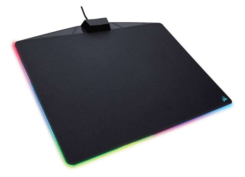 Mousepad Gamer Corsair MM800 RGB POLARIS, 26x35cm, Grosor 5mm, Negro