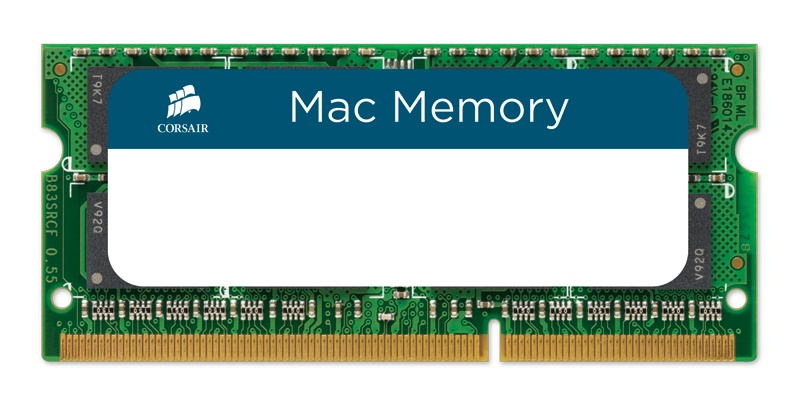 Memoria RAM Corsair DDR3, 1333MHz, 8GB, CL9, Non-ECC, SO-DIMM, para Apple MacBook, iMac y Mac Mini