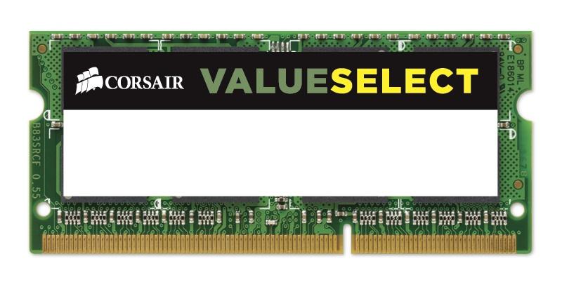 Memoria RAM Corsair Value Select DDR3L, 1600MHz, 4GB, SO-DIMM, 1.35v