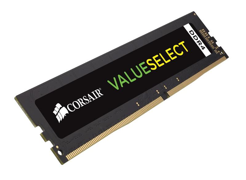 Memoria RAM Corsair ValueSelect DDR4, 2666MHz, 8GB, Non-ECC, CL18