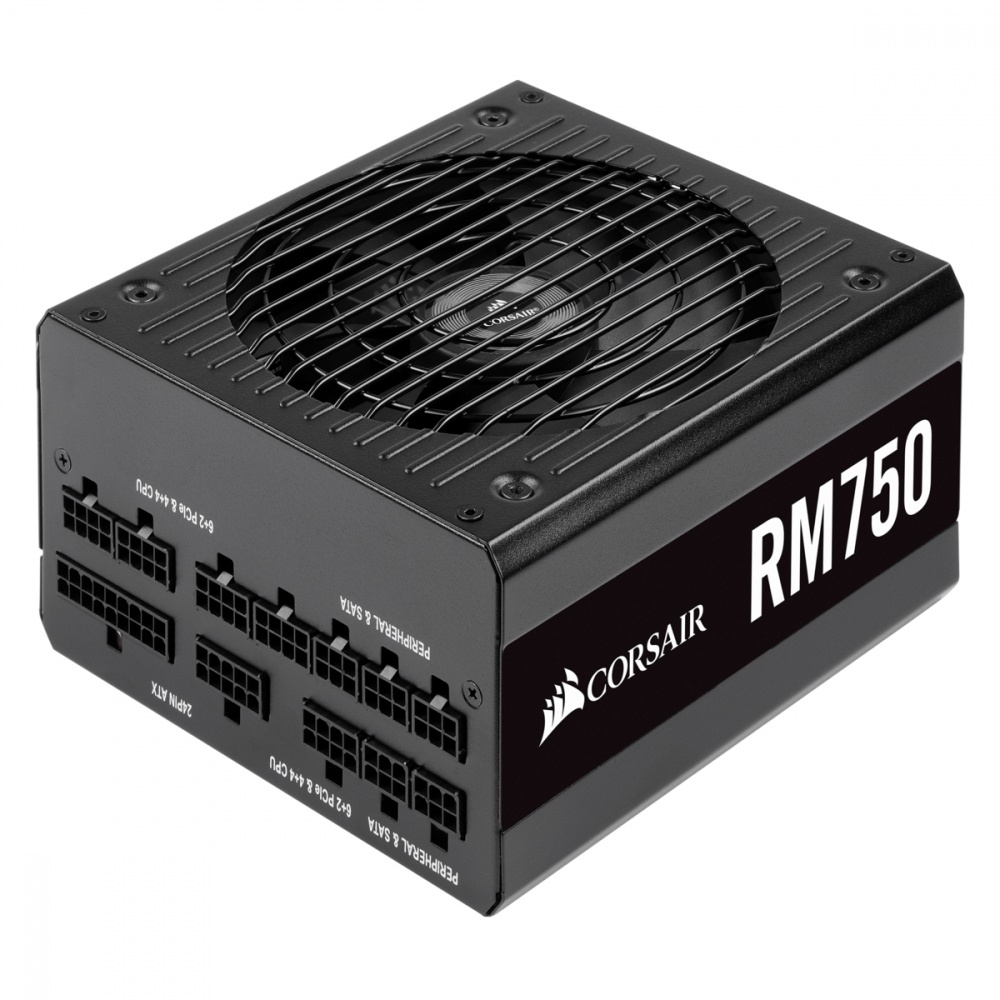 Fuente de Poder Corsair RM750 80 PLUS Gold, 135mm, 750W, con Rodamiento de Rifle
