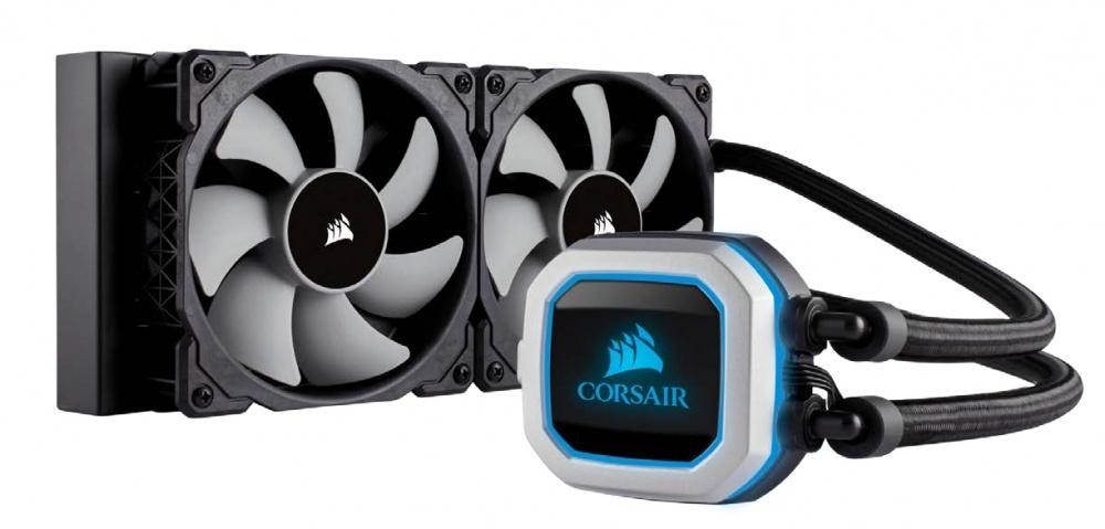 Corsair Hydro Series H100i Pro Enfriamiento Liquido para CPU, 2x 120mm, 400 - 2400RPM