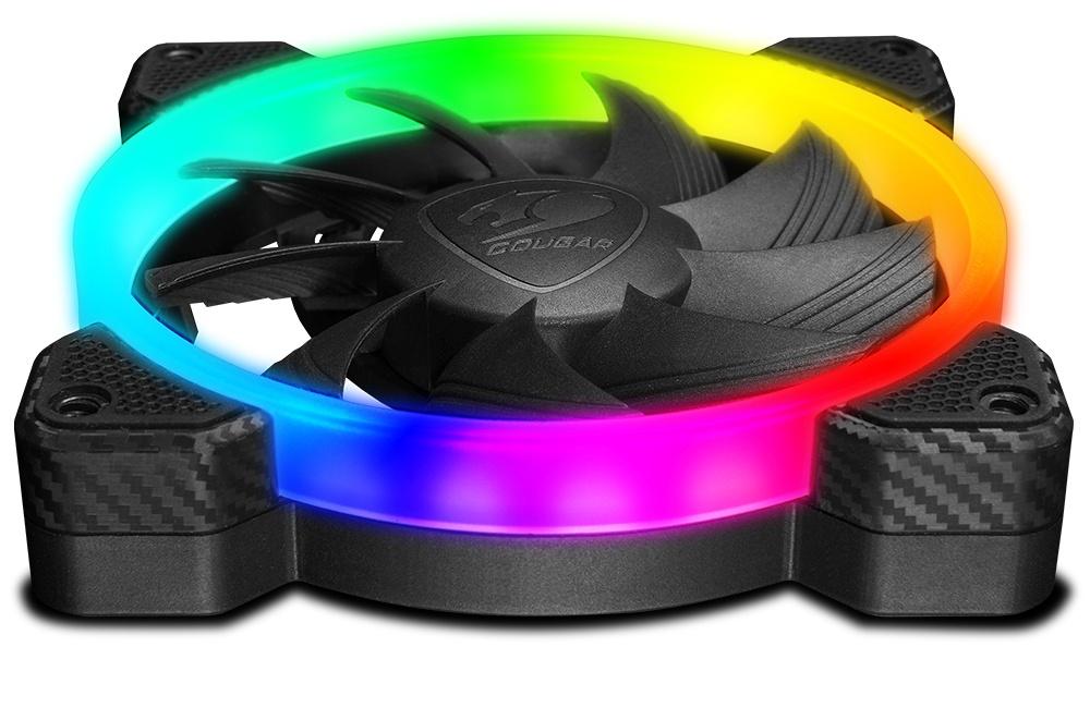 Ventilador Cougar Vortex RGB, 120mm, 1200RPM, Negro
