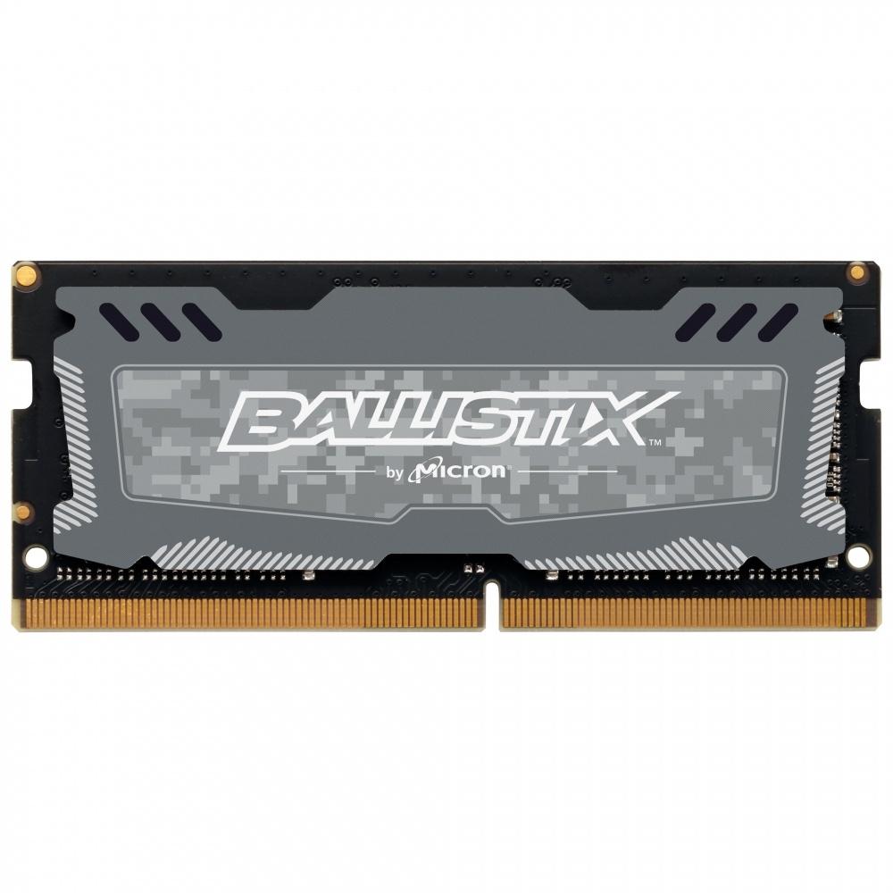 Memoria RAM Crucial Ballistix Sport LT DDR4, 2666MHz, 16GB, Non-ECC, CL16, SO-DIMM, XMP