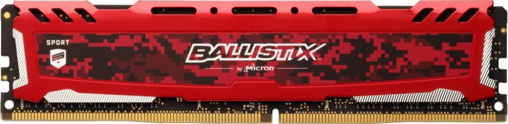 Memoria RAM Crucial Ballistix Sport LT Red DDR4, 3000MHz, 8GB, Non-ECC, CL15, XMP