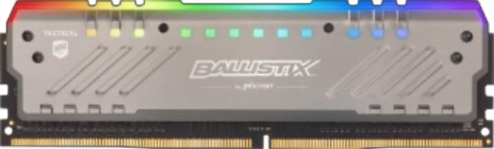 Memoria RAM Crucial Tactical Tracer RGB DDR4, 3000MHz, 8GB, Non-ECC, CL15