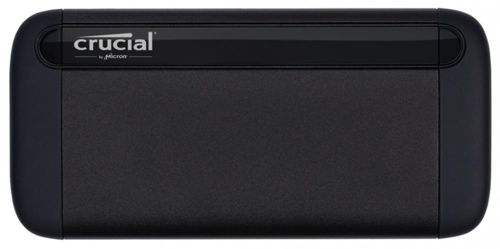 SSD Externo Crucial X8, 1TB, USB C, Negro, A Prueba de Golpes