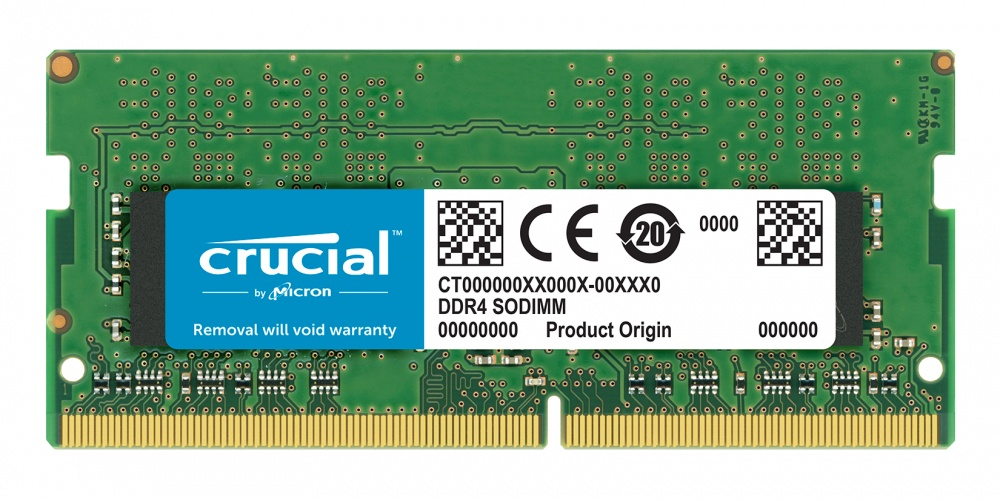 Memoria RAM Crucial DDR4, 2400MHz, 16GB, Non-ECC, CL17, SO-DIMM