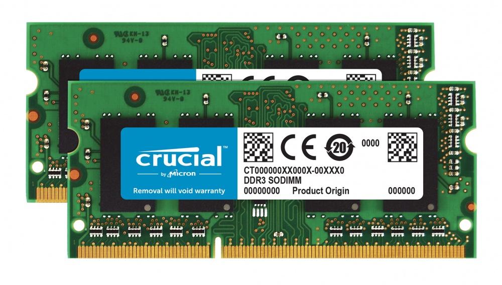 Memoria RAM Crucial DDR3, 1600MHz, 8GB (2 x 4GB), Non-ECC, CL11, SO-DIMM