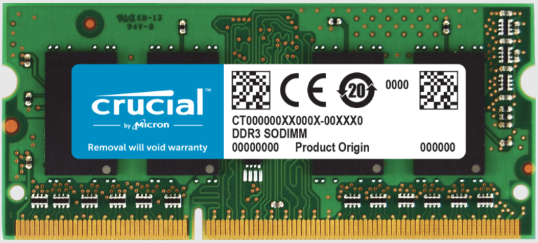 Memoria RAM Crucial DDR3, 1600MHz, 8GB, Non-ECC, CL11, SO-DIMM, 1.35V, para MAC