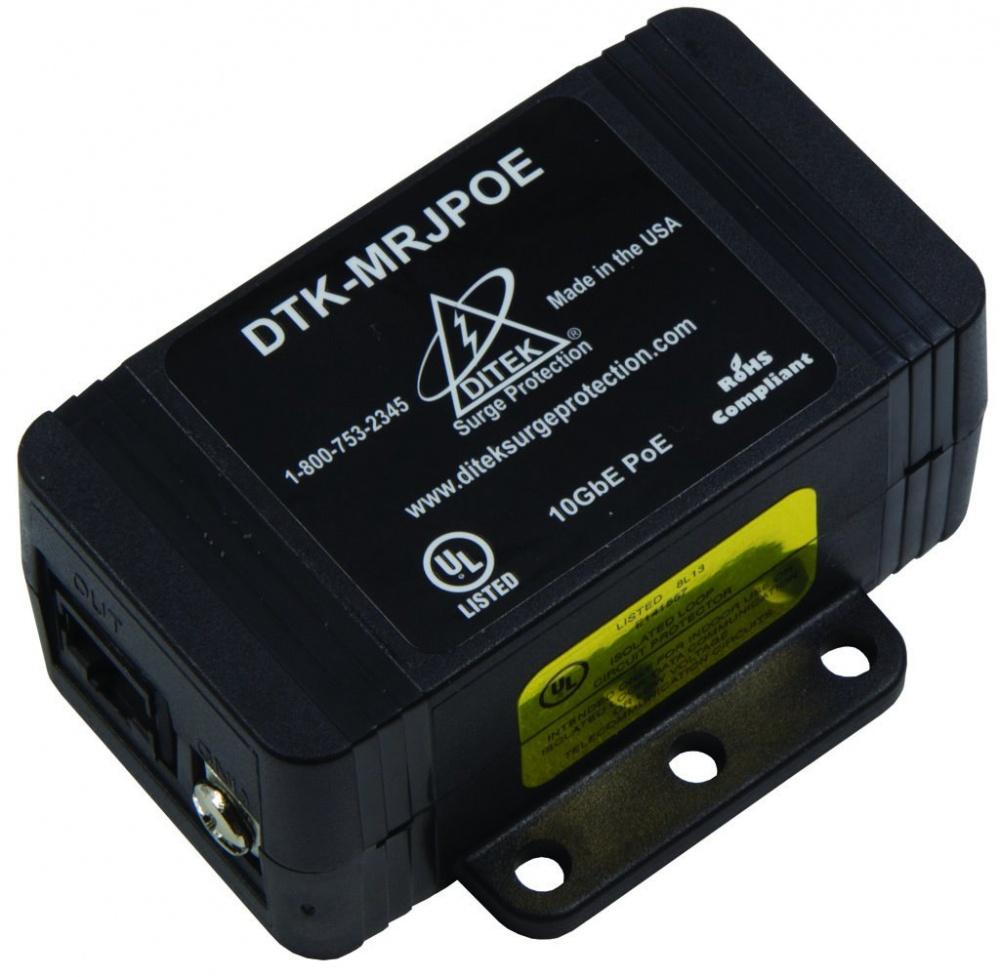Ditek Protector PoE para Cámara IP,  60V, 1x RJ-45