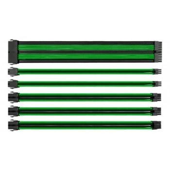 Eagle Warrior Kit de Cables Trenzados PSU, Negro/Verde
