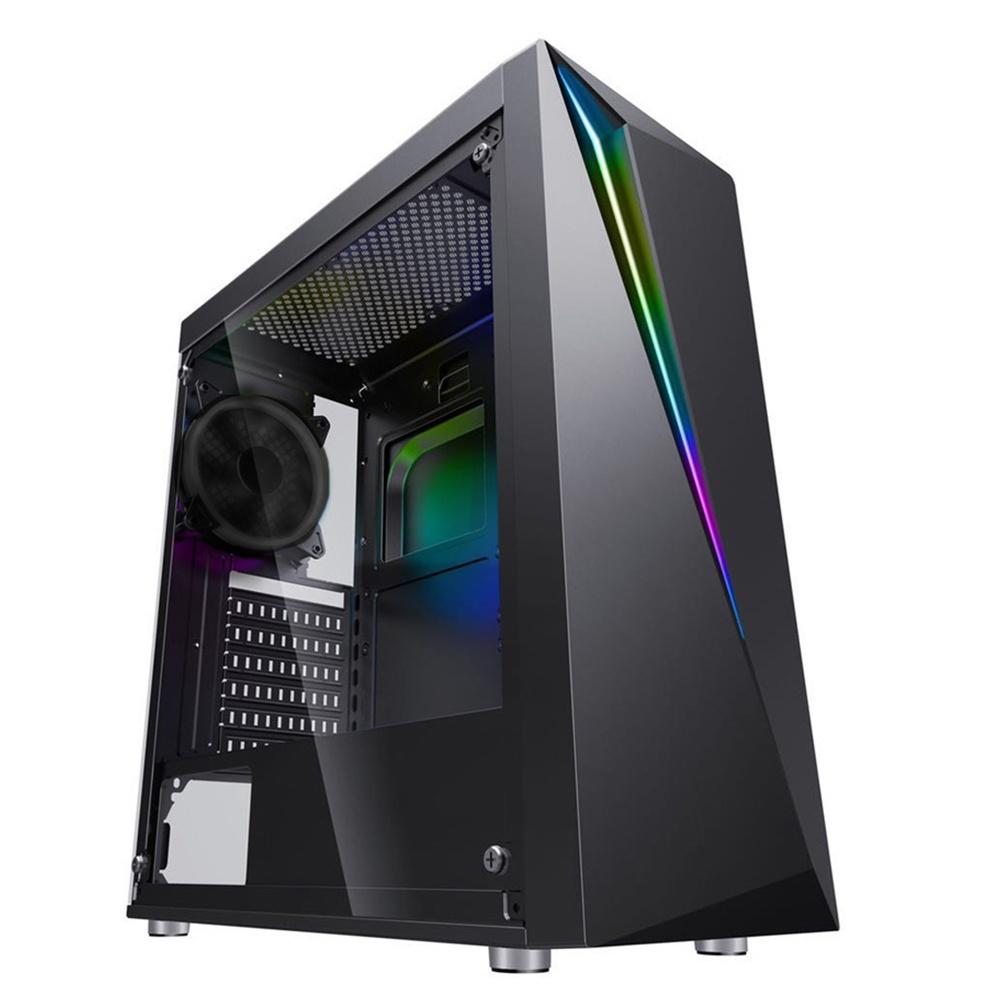 Gabinete Eagle Warrior FLASH con Ventana RGB, Micro-Tower, ATX/micro ATX, USB 2.0/3.2, sin Fuente, Negro