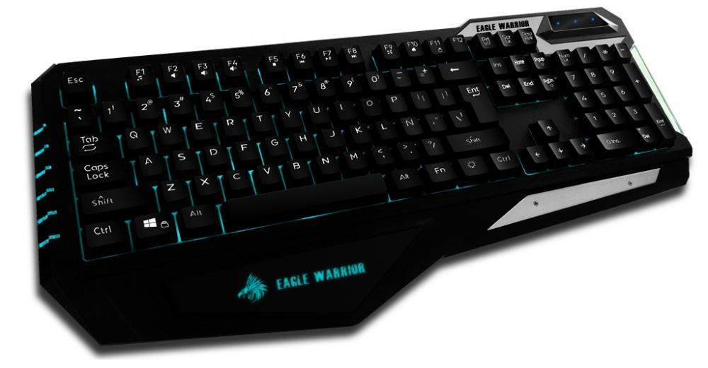 Teclado Gamer Eagle Warrior TANK LED, Alámbrico, Negro