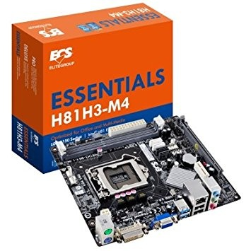 Tarjeta Madre ECS micro ATX H81H3-M4, S-1150, Intel H81, HDMI, 16GB DDR3, para Intel