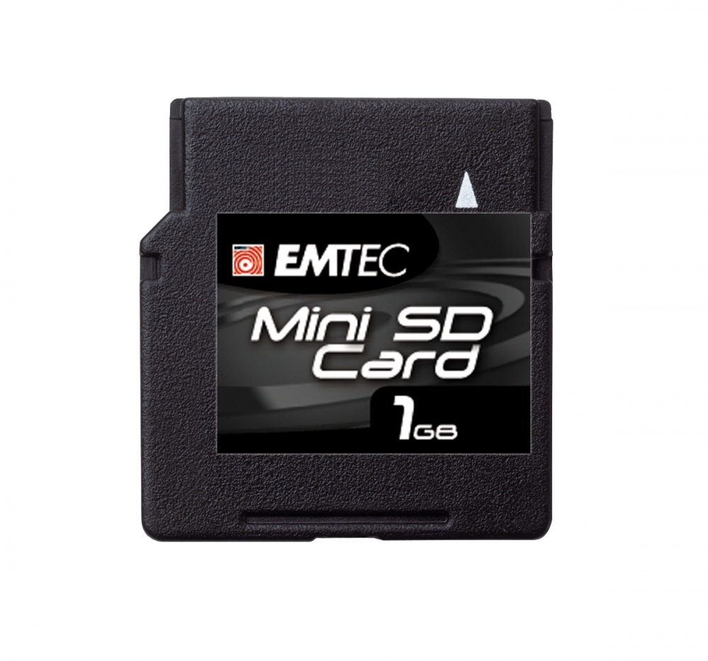 Memoria Flash Emtec, 1GB miniSD, Lectura 7 MB/s, Escritura 4 MB/s