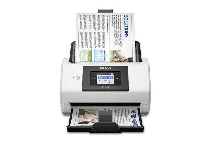Scanner Epson WorkForce DS-780N, 600 x 600 DPI, Escáner Color, USB 3.0, Negro/Blanco