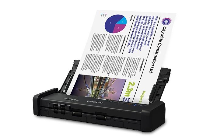 Scanner Epson WorkForce ES-200, 600 x 600 DPI, Escáner Color, Escaneado Duplex, USB 3.0, Negro