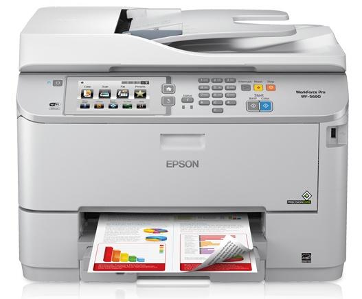 Multifuncional Epson WorkForce Pro WF-5690, Color, Inyección, Inalámbrico, Print/Scan/Copy/Fax