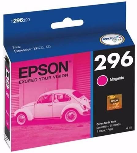 Cartucho Epson 296 Magenta 4ml 250 Páginas