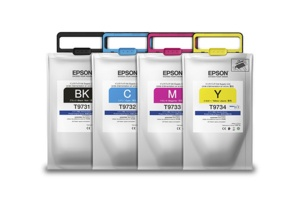 Bolsa de Tinta Epson T973 DURABrite Pro Cyan, 22.000 Páginas