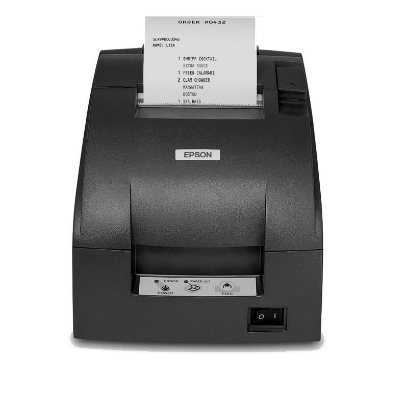 Epson TM-U220D, Impresora de Tickets, Matriz de Puntos, Alámbrico, USB, Negro - incluye Fuente de Poder, sin Cables