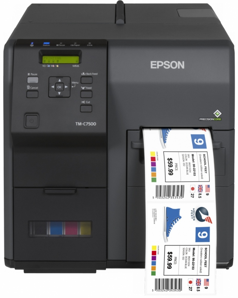 Epson TM-7500 Impresora de Etiquetas de Color, 600 x 1200DPI, Negro