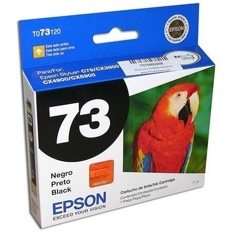 Cartucho Epson 73N Negro, 250 Páginas