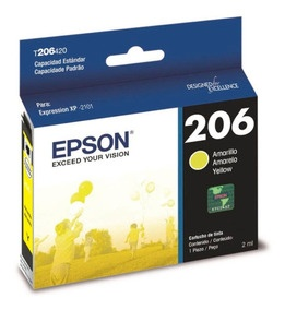 Cartucho Epson T206 Amarillo, 200 Páginas