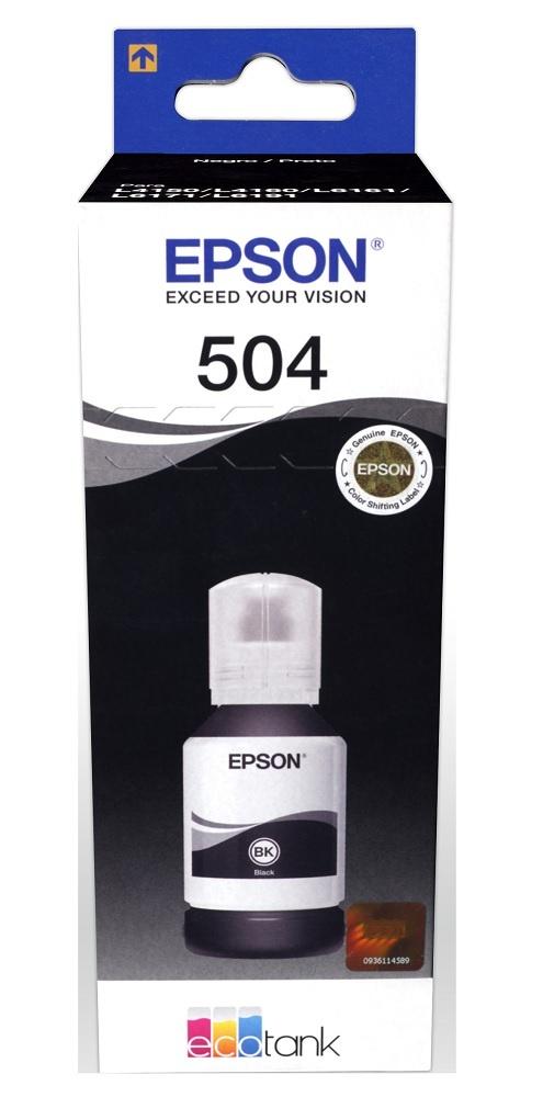 Tanque de Tinta Epson T504 Negro, 127ml