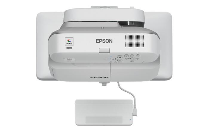 Proyector Interactivo Epson BrightLink 695Wi+ 3LCD, WXGA 1280 x 800, 3500 Lúmenes, Inalámbrico, Tiro Corto, con Bocinas, Blanco