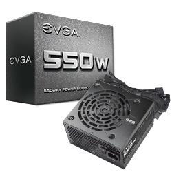 Fuente de Poder EVGA 100-N1-0550-L1, 20+4 pin ATX, 120mm, 550W