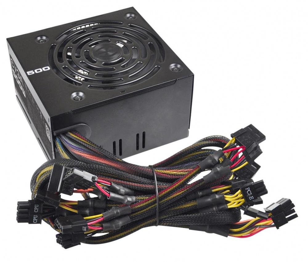 Fuente de Poder EVGA 100-W1-0500-KR 80 PLUS, ATX, 120mm, 500W