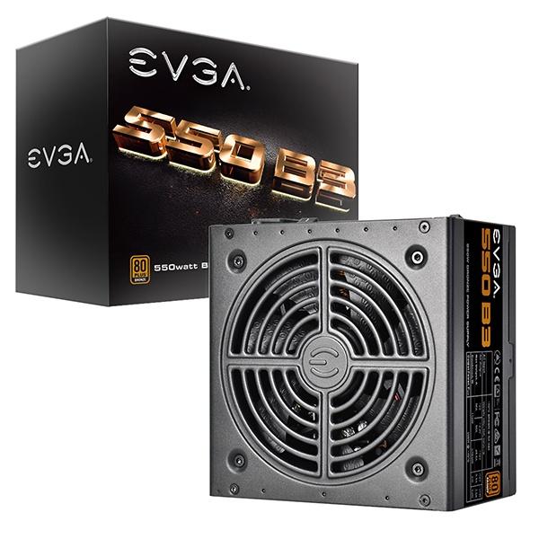 Fuente de Poder EVGA 220-B3-0550-V1 80 PLUS Bronze, 24 pin ATX, 130mm, 550W