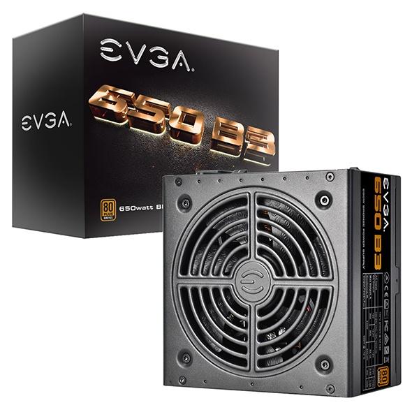 Fuente de Poder EVGA 650 B3 80 PLUS Bronze, 24-pin ATX, 130mm, 650W