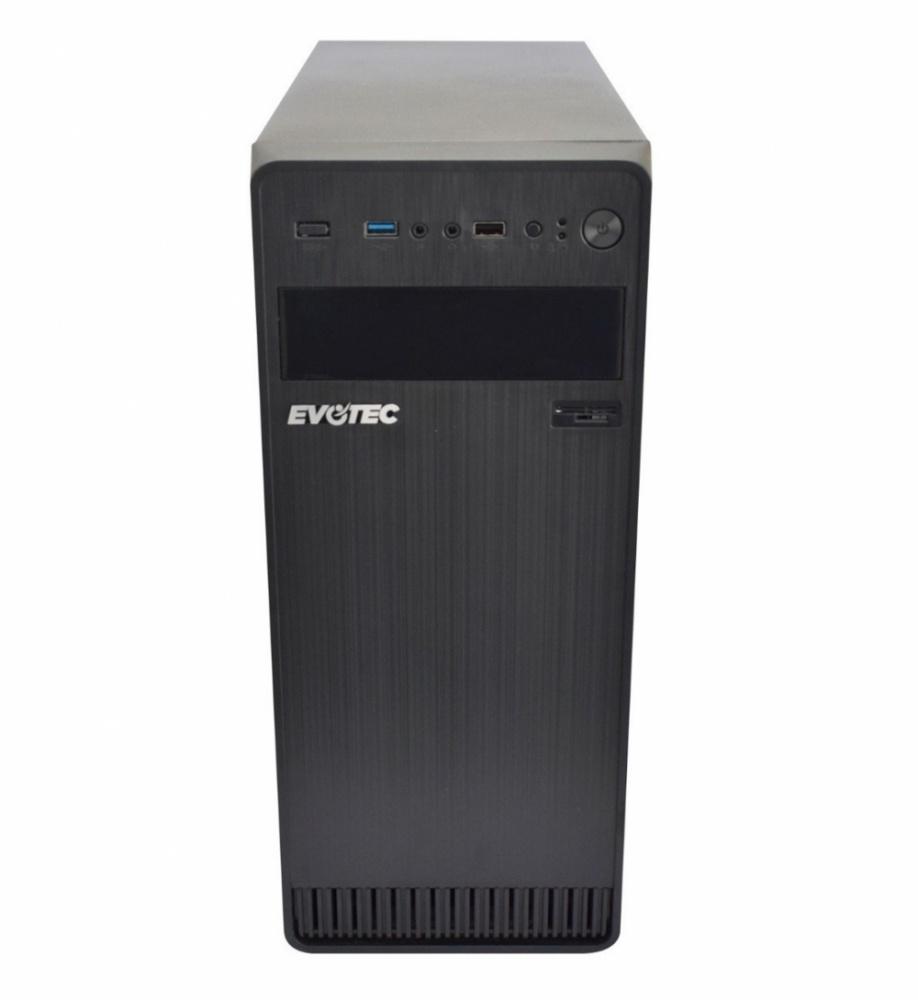 Gabinete Evotec EV-1004, Midi-Tower, ATX/Micro-ATX/Mini-ATX, USB 2.0/3.1, con Fuente de 600W, Negro
